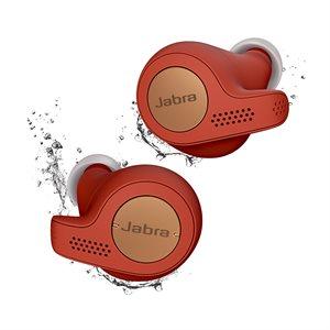 Jabra Elite Active 65t True Wireless Earbuds, Copper / Red