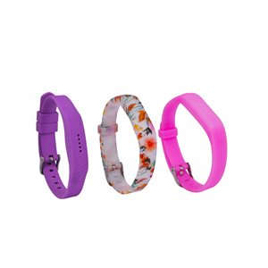Affinity Fitbit Flex 2 Band 3pk TPU, Mixed Floral, SM