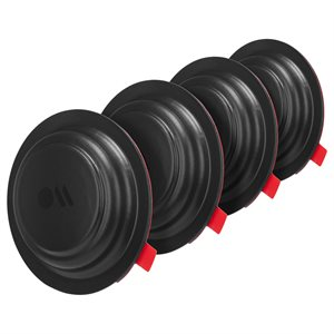 Case-Mate AirTag Sticker Mount 4 Pack - Black