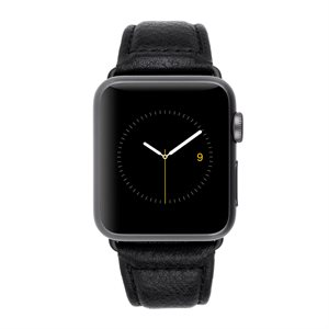 Case-Mate 38mm Pebbled Leather Apple Watchband, Black