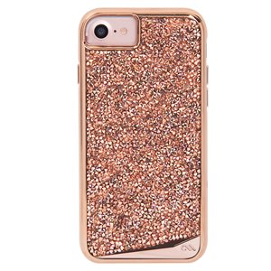 Case-Mate Brilliance Tough Case for iPhone SE / 8 / 7 / 6 / 6s, Rose Gold
