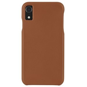 Case-Mate Barely There Leather Case for iPhone XR, Butterscotch