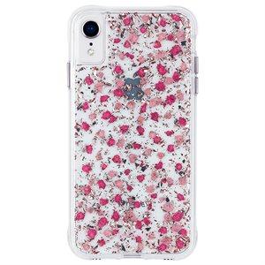 Case-Mate Karat Petals Case for iPhone XR, Ditsy Petals Pink