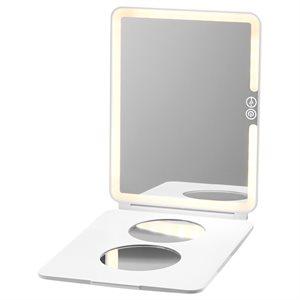 Case-Mate LuMee Studio White Light Portable Makeup Mirror – White