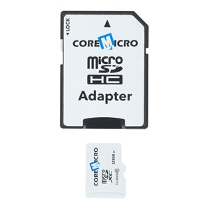 CoreMicro 128 GB MicroSD Card with SD Adapter