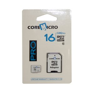 CoreMicro 16 GB MicroSD Card with SD Adapter