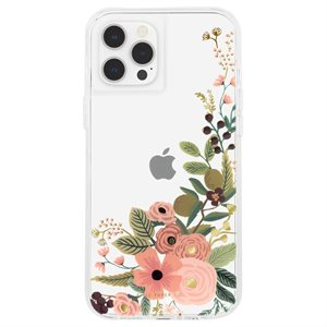 Case-Mate Rifle Paper Case for iPhone 12 Pro Max with Micropel - Rose