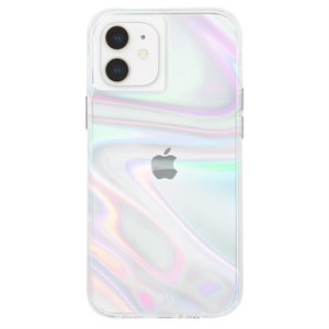 Case-Mate Soap Bubble Case for iPhone 12 Mini with Micropel, Iridescent