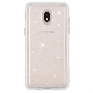Case-Mate Sheer Glam for Samsung Galaxy J3 2018, Clear