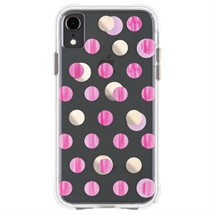 Case-Mate Wallpaper Case for iPhone XR, Pink Dot