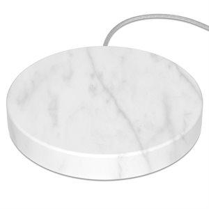 Einova Wireless 10W Charging Stone - White Marble
