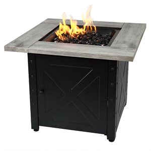 """Endless Summer The Mason 30"""" Square Gas Fire Pit"""