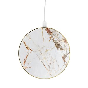 iDeal of Sweden Fashion Qi Charger, Carrara Gold Marble