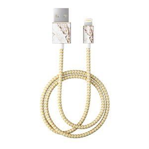 iDeal of Sweden Fashion 1M Lightning Cable, Carrara Gold Marble
