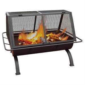 Landmann Northwoods Rectangular Fireplace - Black