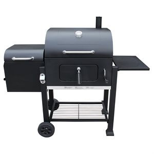 Landmann Vista Charcoal Grill with Offset Smoker - Black