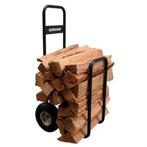 Landmann Log Caddy with Cover - Black