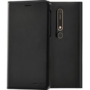 Nokia OEM Flip Cover case for Nokia 6.1, Black