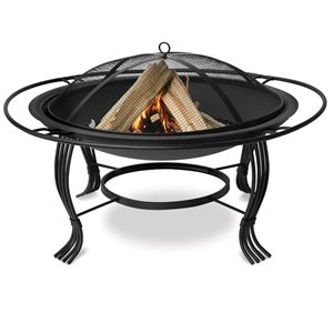Endless Summer Black Outdoor Firebowl with Outer Ring