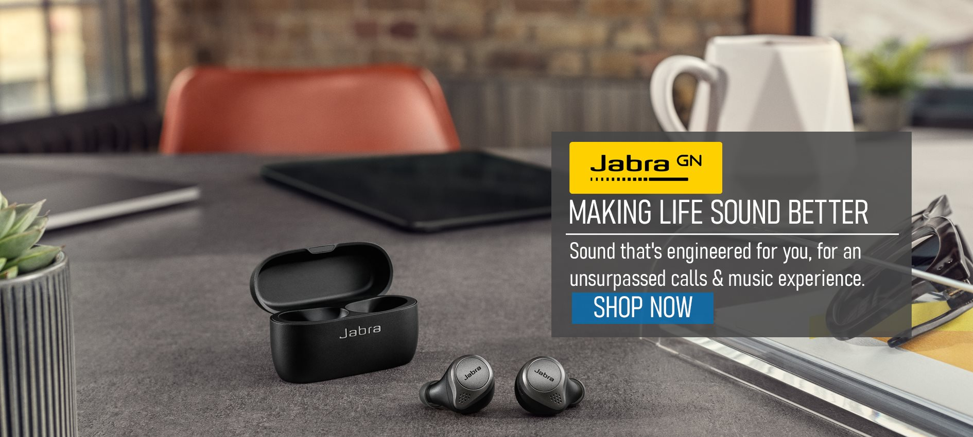 Jabra elite 65T Bluetooth Earbuds, silver/black